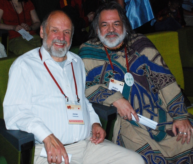 Jonas Trinkūnas & Andras Corban-Arthen at 2009 Parliament of the World's Religions, Melbourne, AU